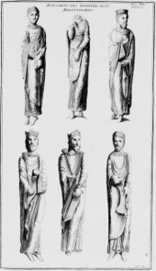 Resultado de imagen de Estatuas columna de la fachada occidental de Saint-Denis